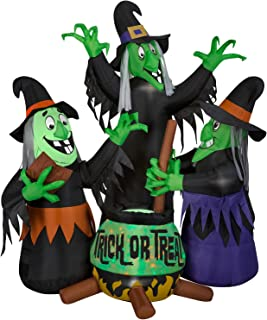 Airblown Inflatable Halloween Animated Witches Brew w/Projection Kaleidoscope Trick or Treat Cauldron