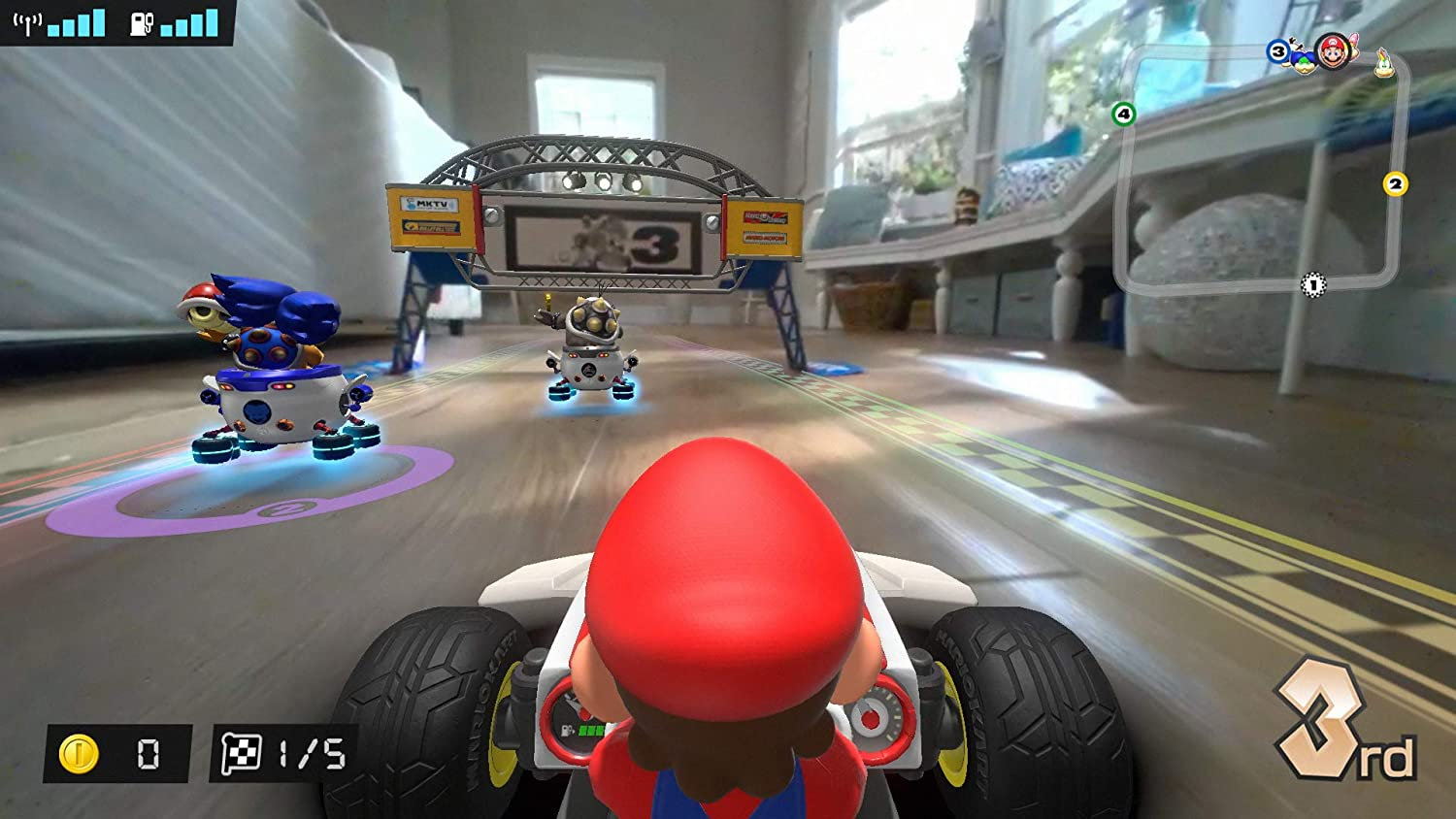 Mario Kart Live Home Circuit Set - Game in action