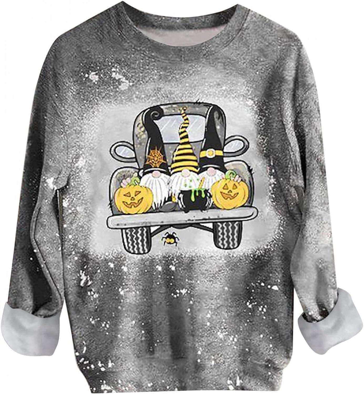 AODONG Women's Crewneck Casual Graphic Sweatshirts Loose Fit Long Sleeve Pullover Tops Trendy Reverse Tie Dye Sweatshirt