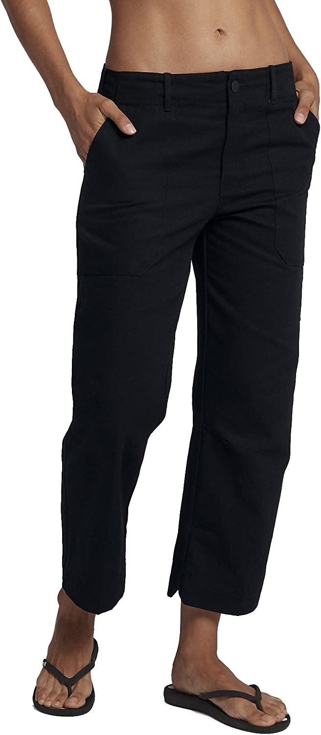 Hurley Women's Lowrider Flat Front Wide Leg Chino Pant