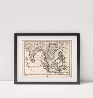 1676 Map of India|A New Map of East India|South Asia|Title: A New Map of East India.