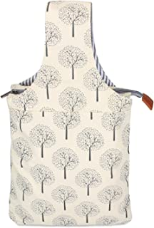 Teamoy Knitting Bag, Canvas Yarn Tote Project Bag for Knitting Needles, Yarn and Crochet Supplies, Perfect Size for Knitting on The Go, Tree