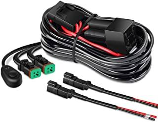 Nilight 16AWG DT Connector Wiring Harness Kit LED Light Bar 12V On Off Switch Power Relay Blade Fuse for Off Road Lights L...