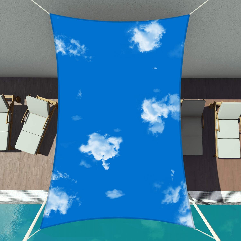 Charlotte Mall Patio 10' Fresno Mall x 13' Standard Size Rectangle Sail Sun Shade Waterproo