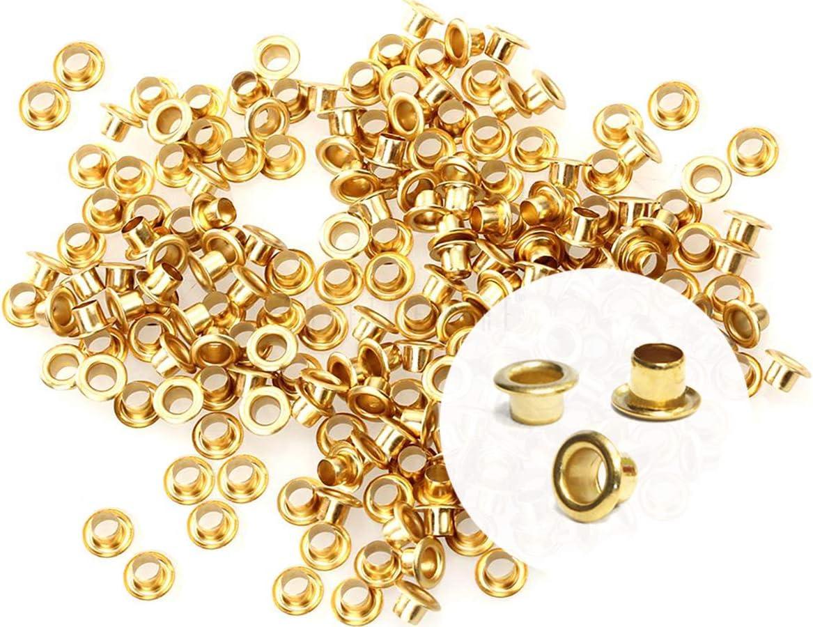 CRAFTMEMORE 2MM Hole 200PCS Tiny Grommets Eyelets Self Backing f