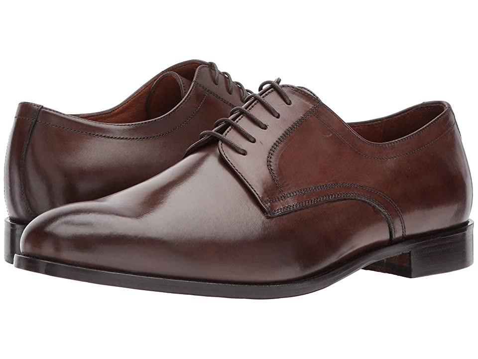 Massimo Matteo 5-Eye Plain Toe Blucher (Dark Brown) Men