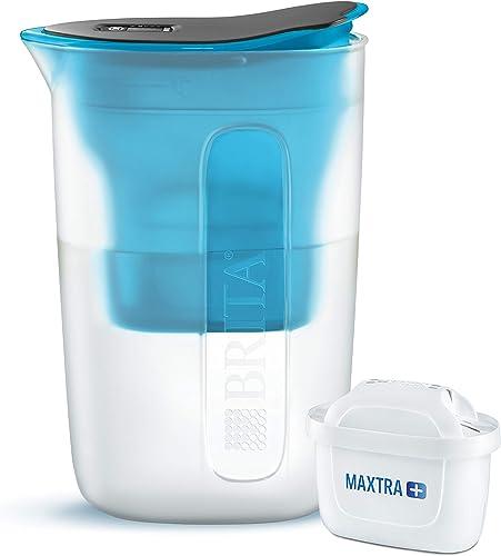 BRITA Carafe filtrante Fun bleue - 1 filtre MAXTRA+ inclus
