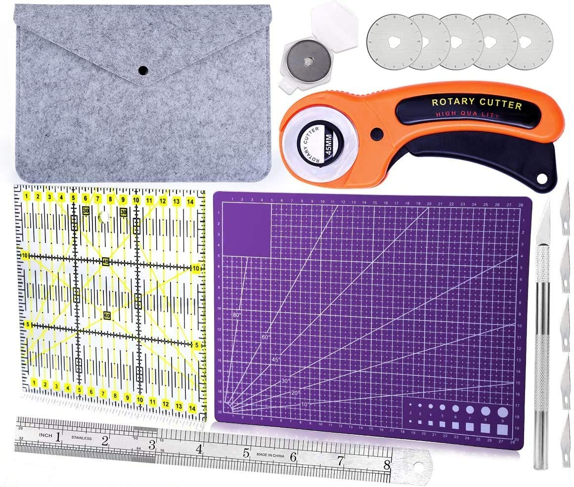 45 mm Rotary Max 58% OFF Cutters Cutter Set A4 Cutting with Mat Sel Cheap mail order shopping