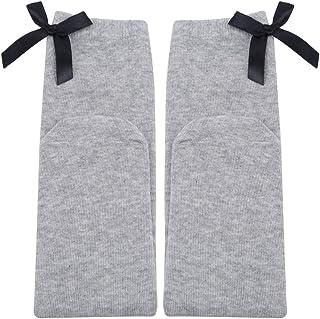 PinhanXXS, Pinhan - Calcetines llanos de algodón para niñas con lazo