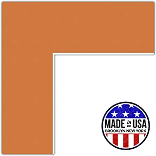 22x30 Tangerine / Octoberfest Custom Mat for Picture Frame with 18x26 opening size (Mat Only, Frame NOT Included)