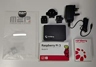 HiFiBerry DAC+ Pro Complete Bundle - DAC+ Pro, RaspberryPi 3B, Power Supply, Preflashed SD Card with Max2Play Including Licence, Case