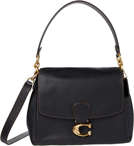 코치 소프트 메이 숄더백 COACH Soft Pebble Leather May Shoulder Bag,B4/Black