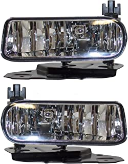 Pair Set Fog Lights Lamps Clear Lens Replacement for Cadillac Escalade/ESV & EXT Pickup Truck GM2592138 GM2593138 AutoAndArt