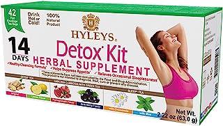 Hyleys Tea 14 Days Detox Kit - 42 Tea Bags - (100% Natural, Sugar Free, Gluten Free and Non-GMO)
