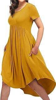 Women Comfy Nightgown Pajama Dress Sleepwear U Neck Sleep...