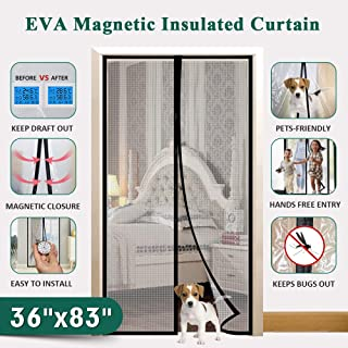 Best magnetic insulated door curtain Reviews