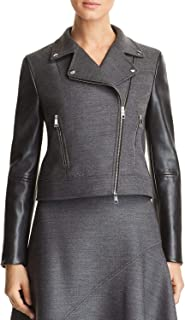 Hugo Boss BOSS Womens Judelina Fall Wool Motorcycle Jacket