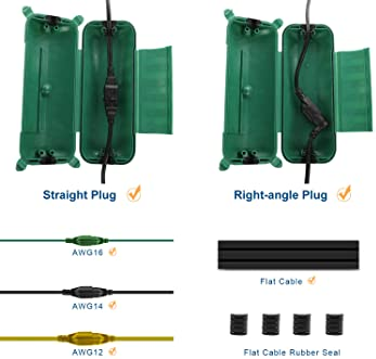 Restmo Extension Cord Safety Cover, IP44 Waterproof Connection Box, Weatherproof Electrical Enclosure Seal to Protect...