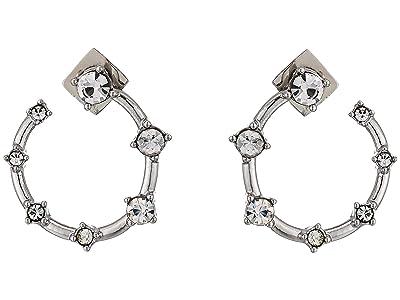 Vince Camuto Wraparound Stone Hoop Earrings (Rhodium/Crystal) Earring