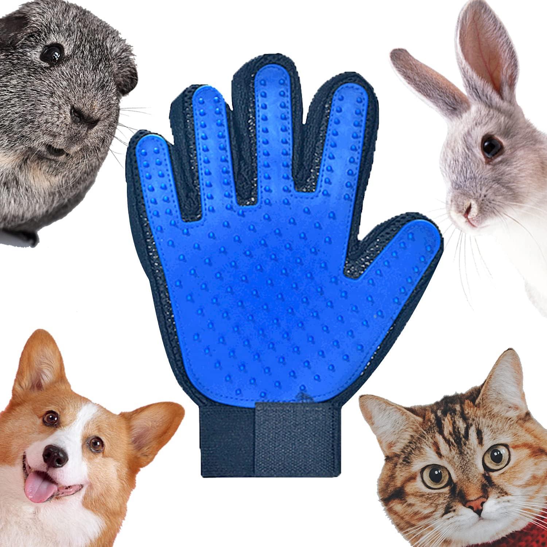 DEEDPF Guante cepillo para limpieza de mascotas, guante para mascotas, guante de masaje, pelo largo, pelo corto, gato, perro, cavia, caballo, conejo, belleza para la depilación Removal