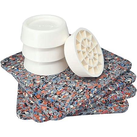 Tapis anti-vibrations pour machine à laver, universel, set de 4 amortisseurs anti-vibrations, coussinets anti-dérapants pour séchoir, pieds amortisseurs d'oscillation, absorbeur de vibrations