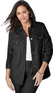 Women's Plus Size Classic Cotton Denim Jacket 100% Cotton...