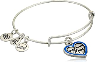 Alex and Ani Because I Love You Expandable Wire Bangle Bracelet for Women, Meaningful Charms, 2 to 3.5 in