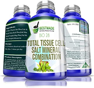 Total Tissue Cell Salt Mineral Combination Bio28, 300 pellets, Helps Your Body Absorb and Use Nutrients, Increases Energy Levels, Improves Sleep Patterns, Restores Overall Health and Vitality