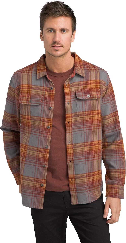 prAna Mens Lybek Long Sleeve Flannel