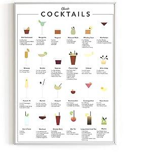 RipGrip Minimalist Art Prints, Cocktail & Mixology, 12 x 16 Inch
