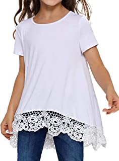 Arshiner Girls Casual Tunic Tops Long Sleeve Loose Soft Blouse T-Shirt for 4-13 Years