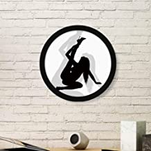 DIYthinker Cheating Hot Beautiful Woman Art Painting Picture Photo Wooden Round Frame Home Wall Decor Gift Small Black