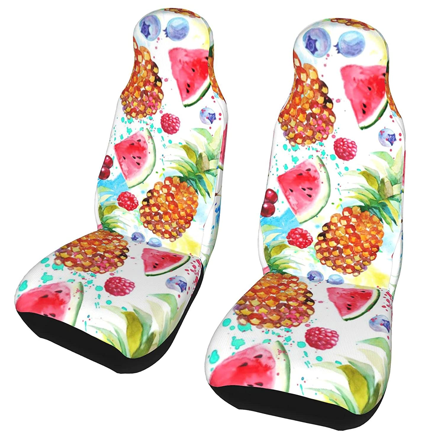 Our shop OFFers the best service AXDF Watercolor Flowers and Fruits Car seat Protective Doodles online shop C