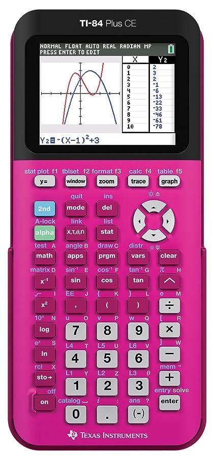 に慣れ苦しみ適格TI84 Plus CE Positively Pink