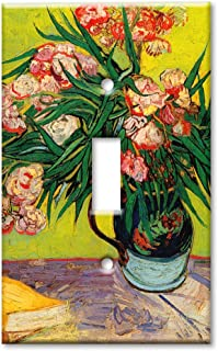 Van Gogh Oleanders Art Plates Outlet Cover OVERSIZE Switch Plate//OVER SIZE Wall Plate