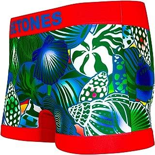 BETONES (ビトーンズ) メンズ ボクサーパンツ SHELL RED dwearsステッカー入り ローライズ アンダーウェア 無地 ブランド 男性 下着 誕生日 プレゼント
