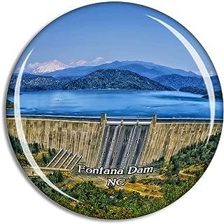 Fontana Dam North Carolina USA Magnet Travel Souvenir 3D Crystal Glass Collection Gift Refrigerator Sticker