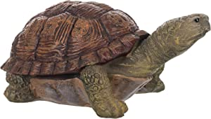 Fred The Turtle Natural Brown and Green 5 inch Resin Stone Collectible Figurine