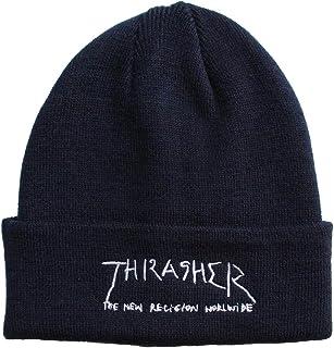 (スラッシャー) THRASHER GONZ LOGO 刺繍 アクリル平編みビーニー ニット帽 ニットキャップ 帽子 メンズ レディース 商品