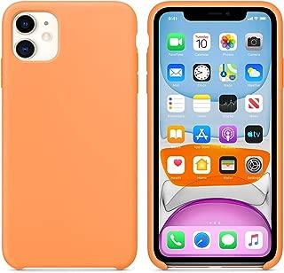 Microsonic 21771 Apple iPhone 11 6.1 inç Kılıf Liquid Lansman Silikon Papaya