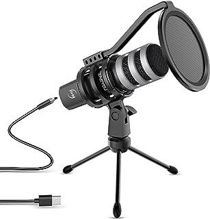 ZINGYOU USB Microphone Bundle Desktop Computer Mic for Gaming Podcasting Recording Vocals Singing 192kHz/24Bit Compatible ...