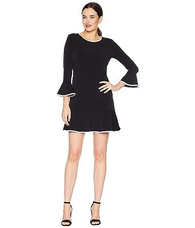 MICHAEL Michael Kors Solid Flounce Dress (Black) Women