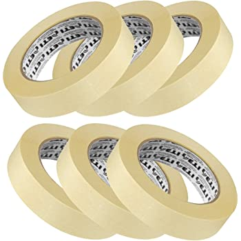 ELATAPES EXPAND STICKING POSSIBILITIES Tapes Masking Tape for Carpenters and Painters (6 Rolls of 24 mm X 20 m Each)