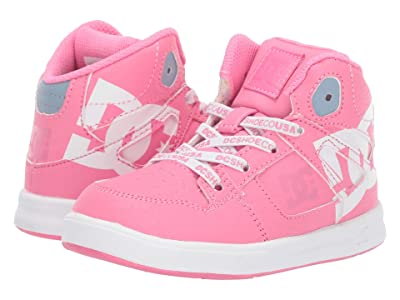 DC Kids Pure High-Top SE (Toddler) (Pink) Girls Shoes