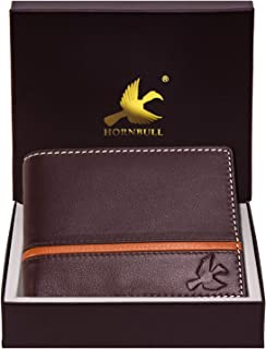 Hornbull Men's Denial Brown Genuine Leather RFID Blocking Wallet