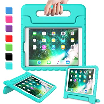 AVAWO Kids Case for iPad 9.7 2017/2018 & iPad Air 2 - Light Weight Shock Proof Convertible Handle Stand Friendly Kids Case for 9.7-inch iPad 5th & 6th Gen, iPad Air 1 & iPad Air 2 - Turquoise