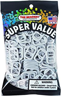The Beadery SODA POP TAB MED Silver Pearl