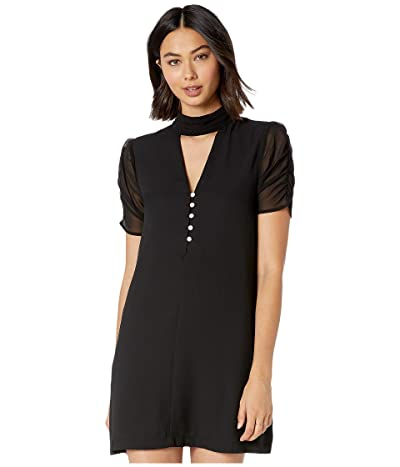 BCBGeneration Ruched Sleeve A-Line Dress ZGP6226230 (Black) Women
