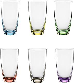 "Bohemia Cristal 093 006 051 långdrinkskopp ca 350 ml gjord av kristallglas set ""Viva Colori"""