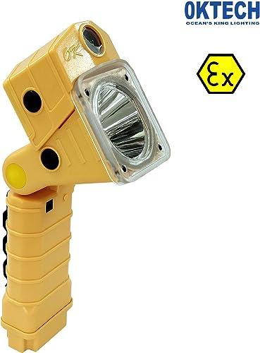 Oktech ATEX Explosion Proof 3W lampe torche à LED multifonction Résolution 1080p Camera lampe de poche puissante batterie rechargeables lumière de travail